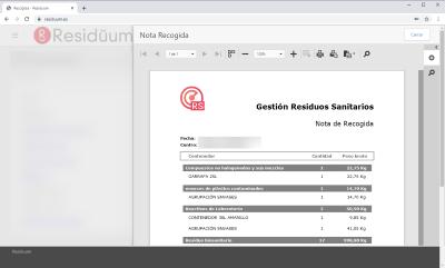 gestión residuos portal web documentos
